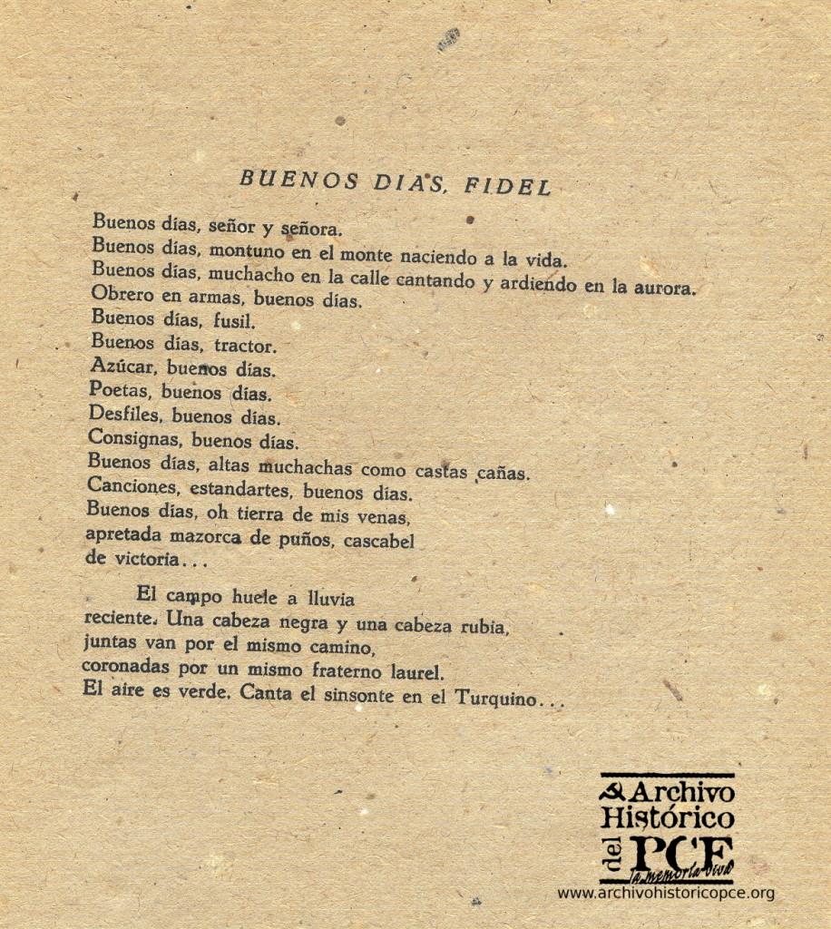 Poema de Nicolás Guillén