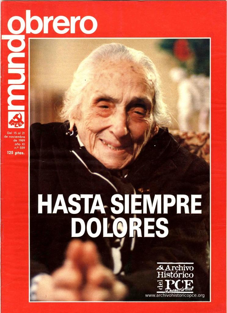 La portada de Mundo Obrero.
